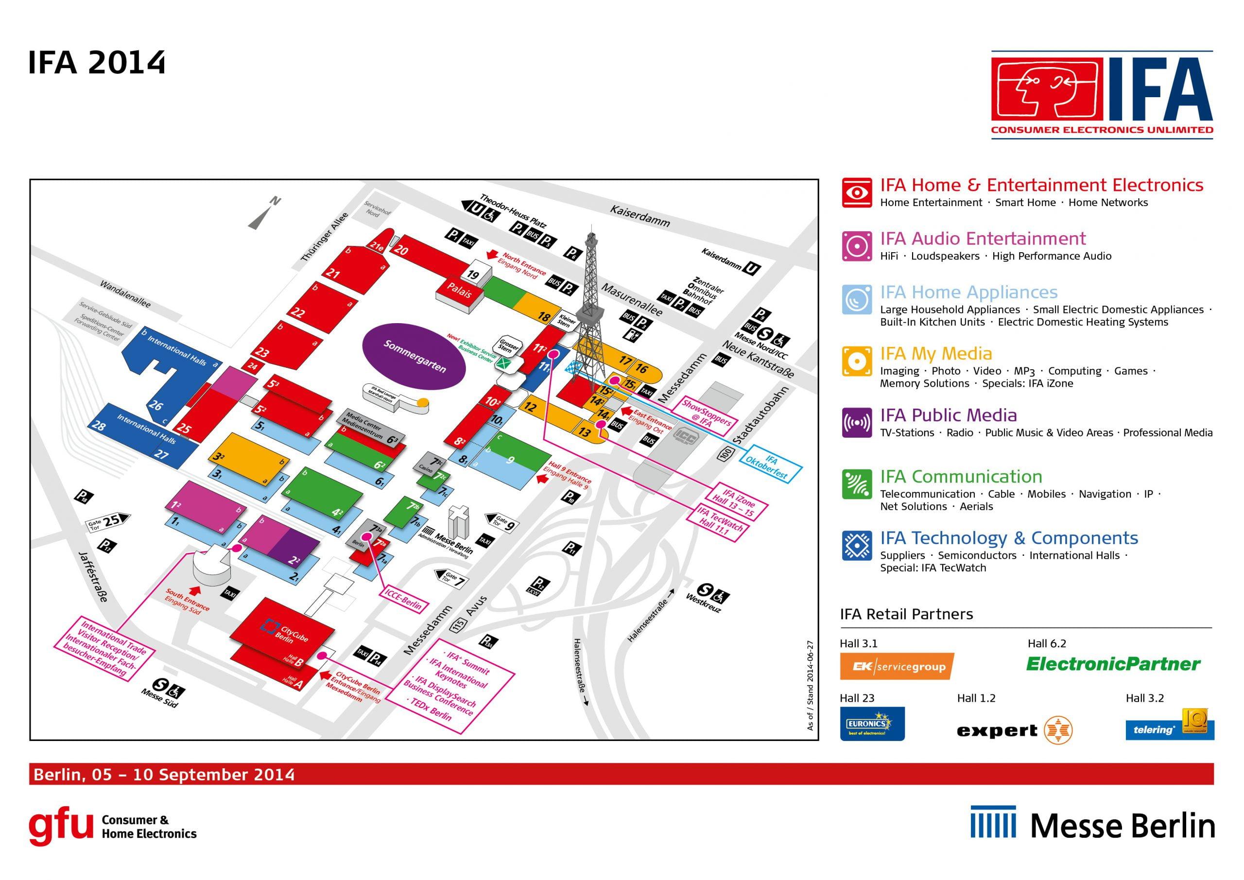 نقشه سالن های IFA 2014