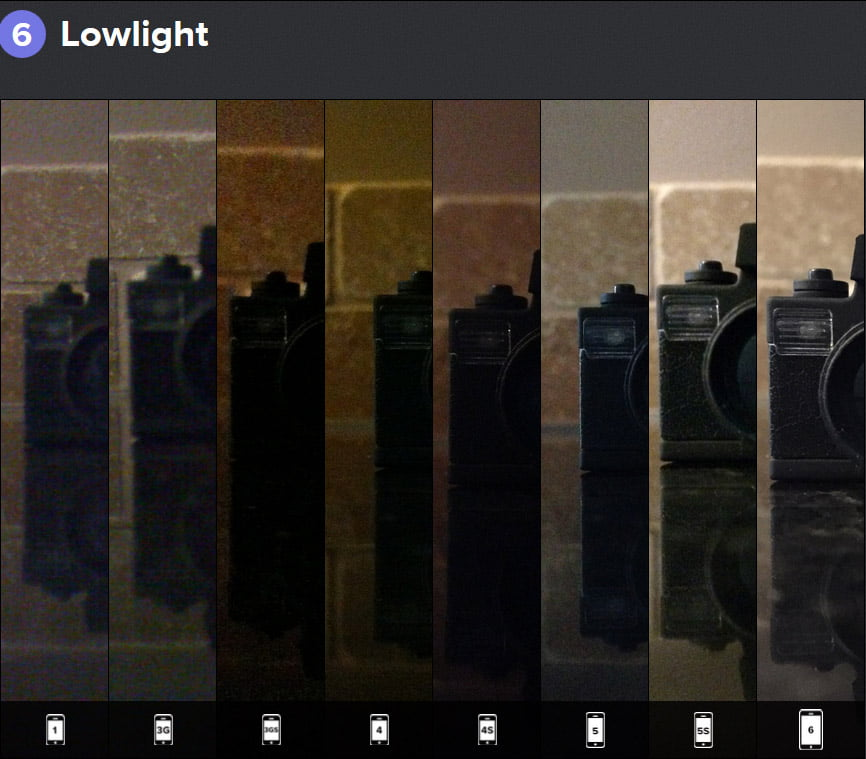 مقایسه کیفیت تصاویر آیفون های نسل های مختلف