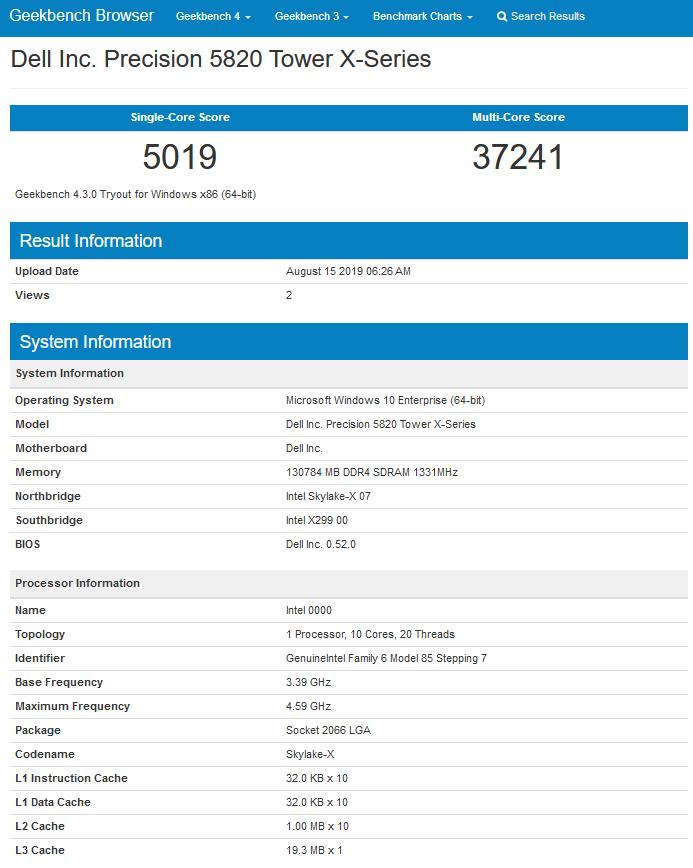 پردازنده 10 هستهای Cascade Lake X تا 16 درصد سریعتر از Core i9 9900K