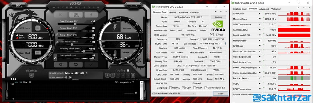 بررسی کارت گرافیک MSI GTX 1660 TI GAMING X 6G