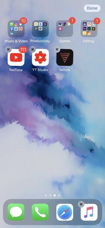 Delete apps ios13