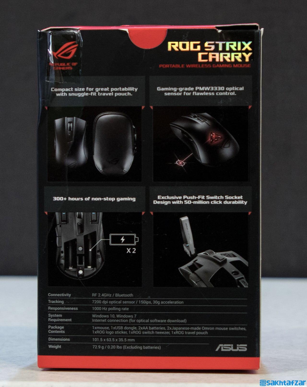 بررسی ماوس بی سیم Asus ROG Strix Carry