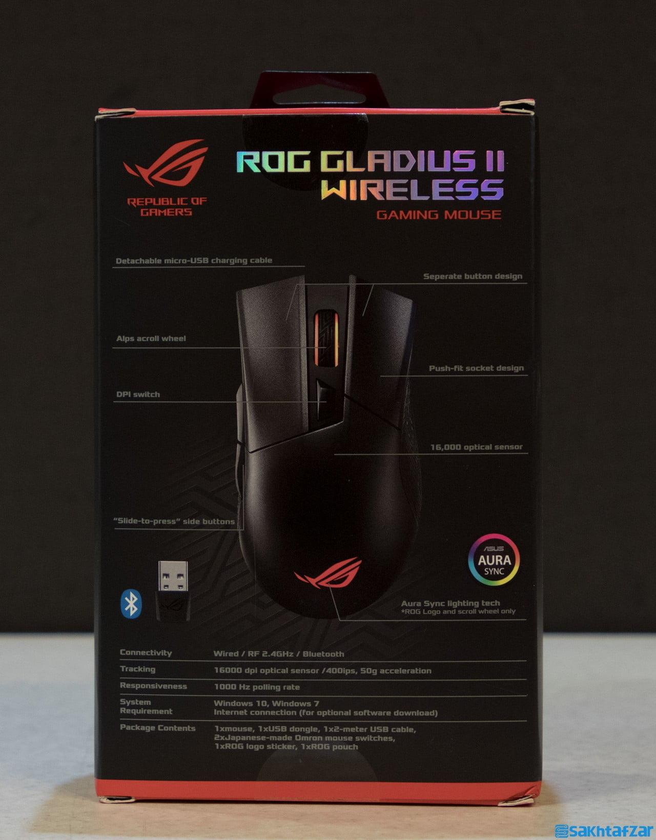 بررسی ماوس گیمینگ بی سیم ASUS ROG STRIX GLADIUS II