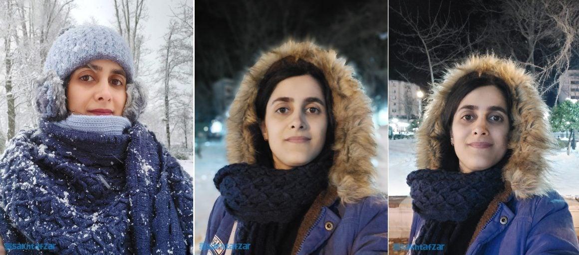 نمونه تصاویر ثبت شده با دوربینها در طول بررسی گلکسی اس 10 لایت