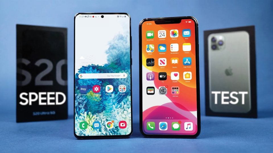 iPhone 11 Pro max VS Galaxy S20 Ultra Speed Test