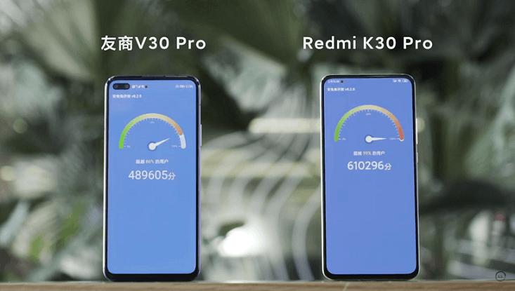 مقایسه بنچمارک ردمی K30 Pro و آنر V30 Pro