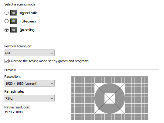 تنظیمات Display کنترل پنل انویدیا