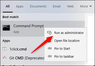 اجرای Command Prompt