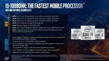 پردازندههای نسل دهم Comet Lake H