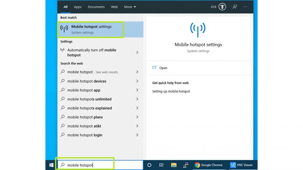 اشتراک گذاری اینترنت در ویندوز با استفاده از Wi-Fi Hotspot