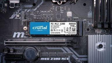 درایو NVMe SSD کروشال P2
