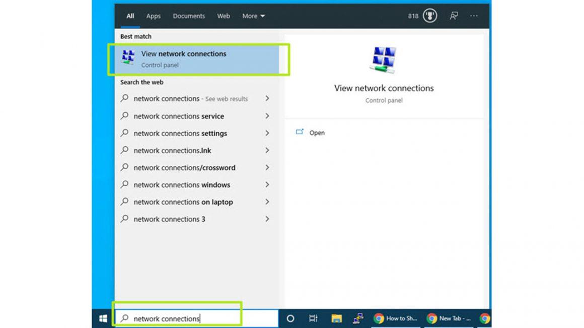 اشتراک گذاری اینترنت در ویندوز 10 با استفاده از Ethernet