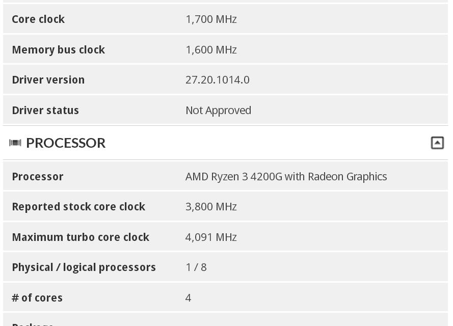 پردازنده Ryzen 3 4200G در 3DMark