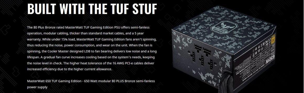 سیستم پیشنهادی حرفهای گیمینگ TUF Gaming Alliance