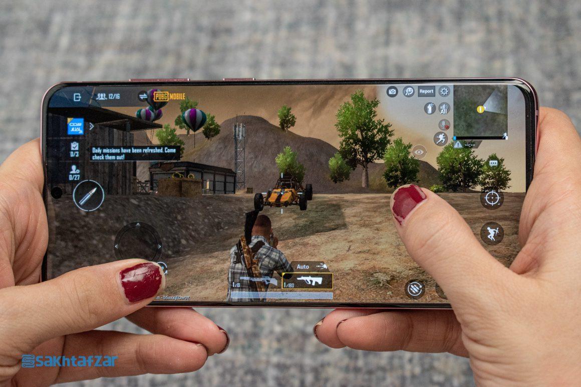بازی پابجی موبایل در گوشی گلکسی S20 سامسونگ