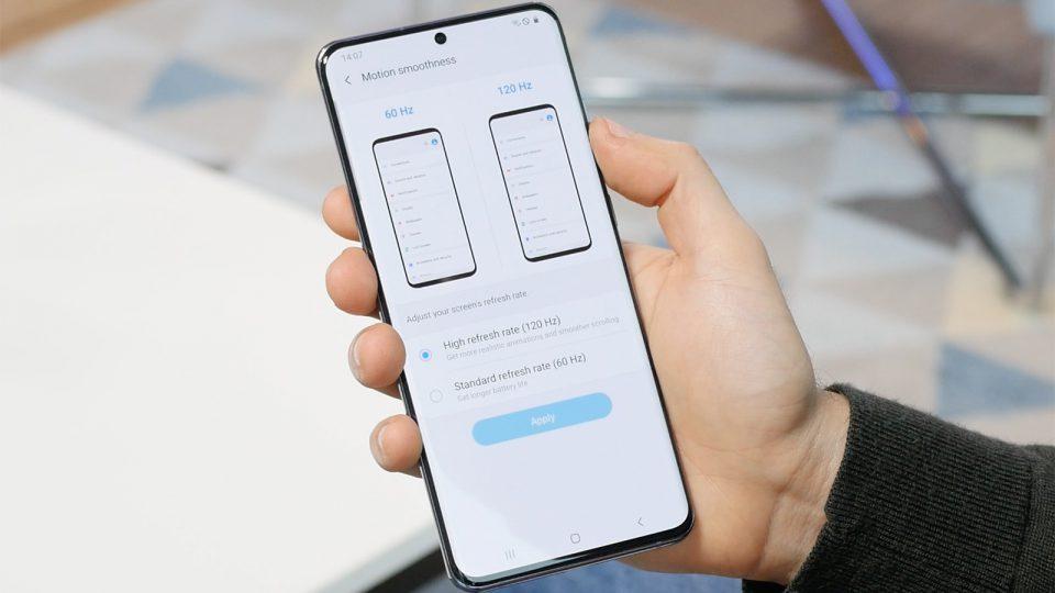 تفاوت مصرف باتری نمایشگر 60 و 120 هرتز در گوشی گلکسی S20 Ultra