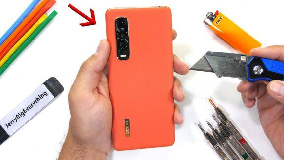 تست مقاومت گوشی Find X2 Pro