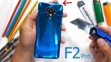 تست مقاومت گوشی Poco F2 Pro