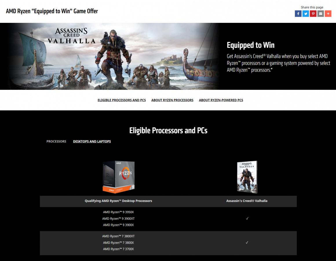 باندل Assassin's Creed Valhalla برای نسل سوم رایزن