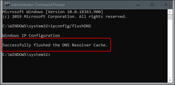 پاکسازی کش DNS