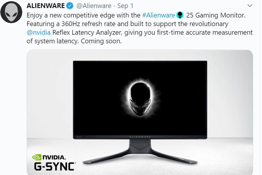 توییت شرکت alienware