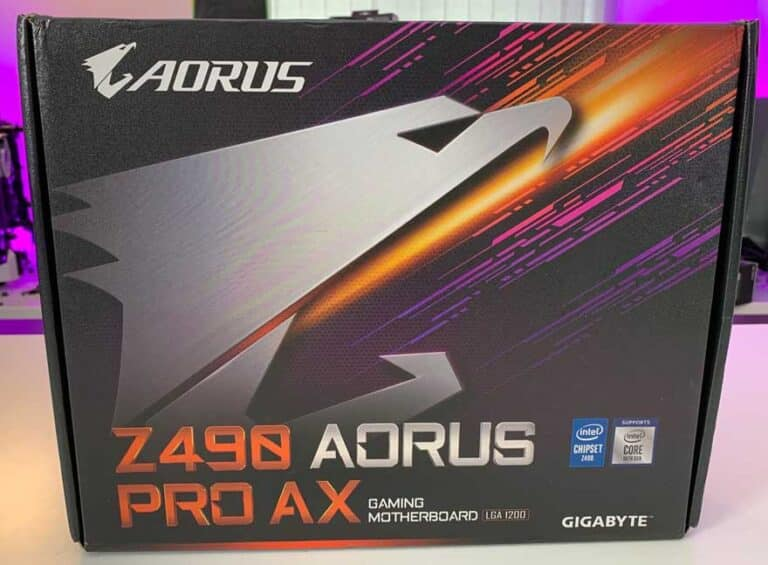 باکس مادربرد Gigabyte Z490 AORUS PRO AX