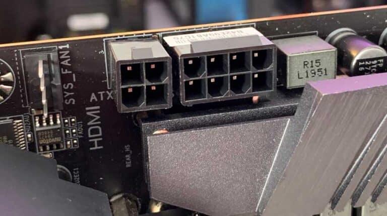 کانکتورهای برق مادربرد Gigabyte Z490 AORUS PRO AX