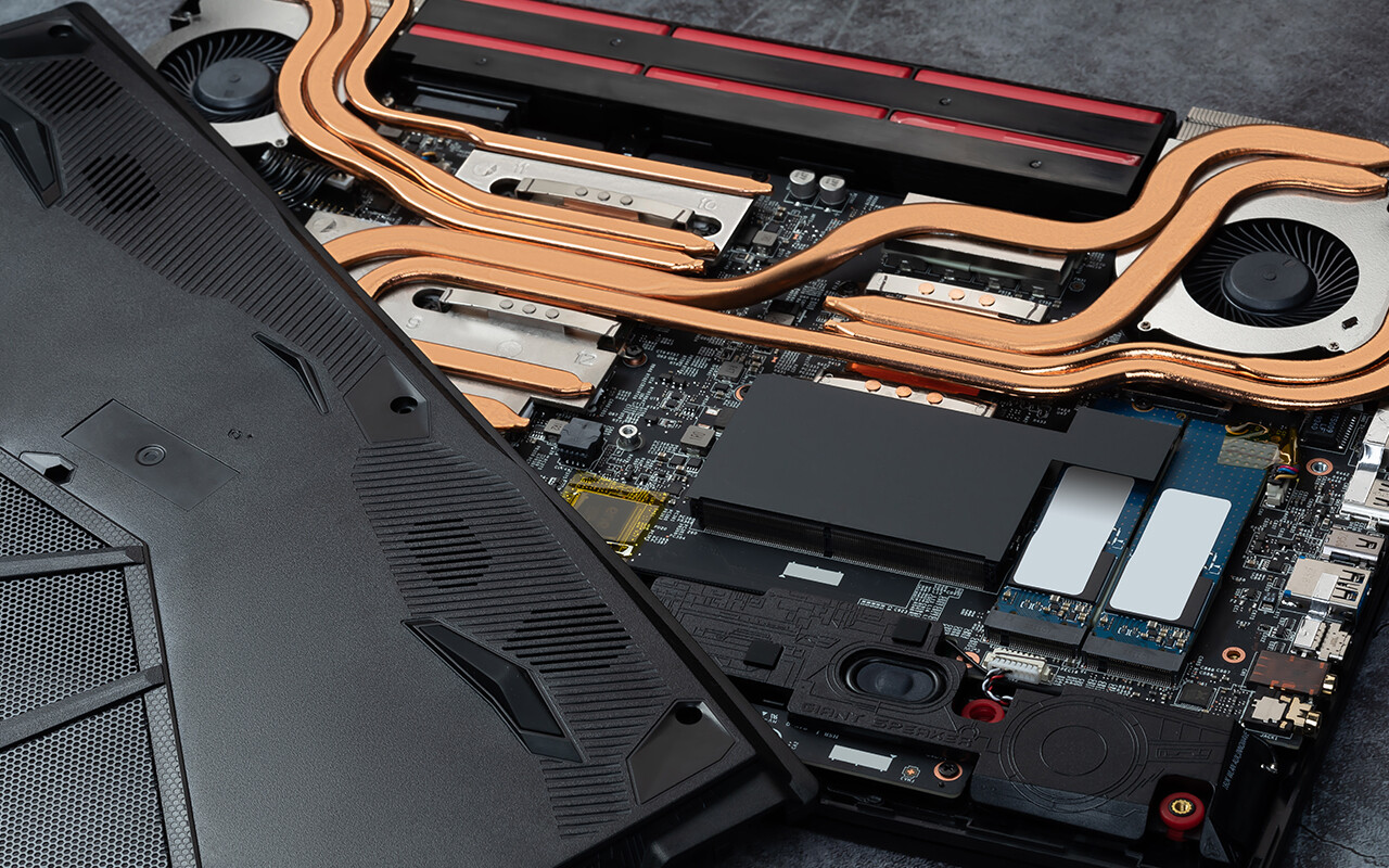 نمای داخلی لپ تاپهای آلفا 15 و 17 MSI