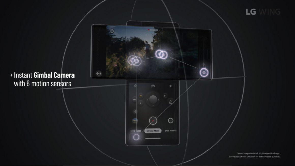 سیستم دوربین گوشی الجی وینگ