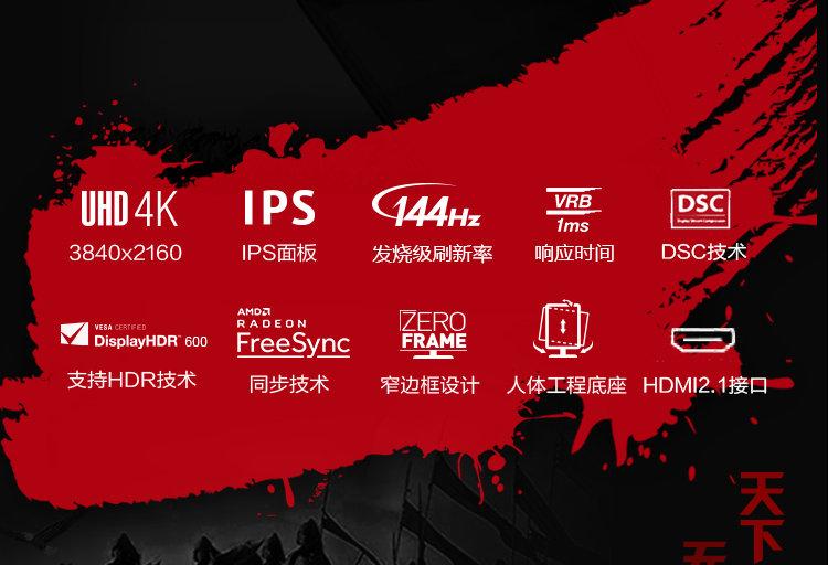 مشخصات فنی اولین مانیتور گیمینگ 4K ایسر