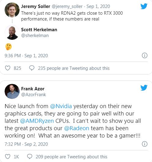 توییتهای کارمندان AMD درباره RDNA 2