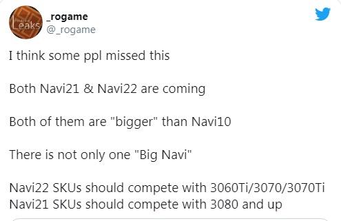 اطلاعات Rogame درباره سری Radeon RX 6000