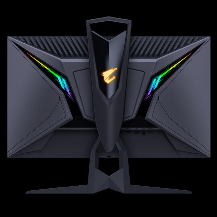 نمای پشتی با نورپردازی RGB