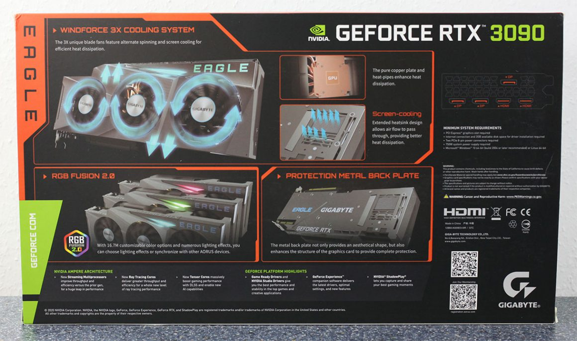 بسته بندی گرافیک Gigabyte RTX 3090 Eagle OC