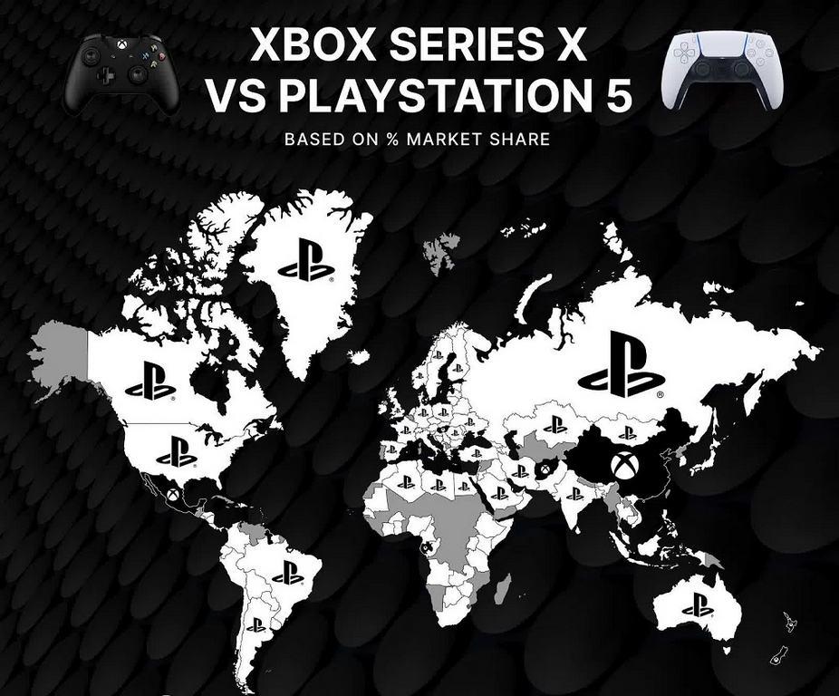 نقشه جهانی تقاضا برای Xbox Series X و PS5