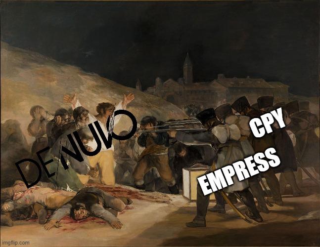 شوخی کاربران در رابطه با شکست Denuvo از CPY و Empress