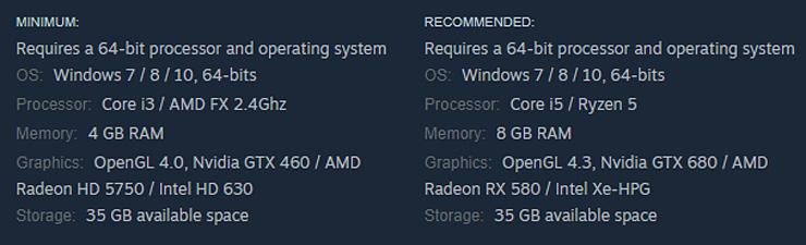Intel Xe HPG در لیست مشخصات Amnesia Rebirth