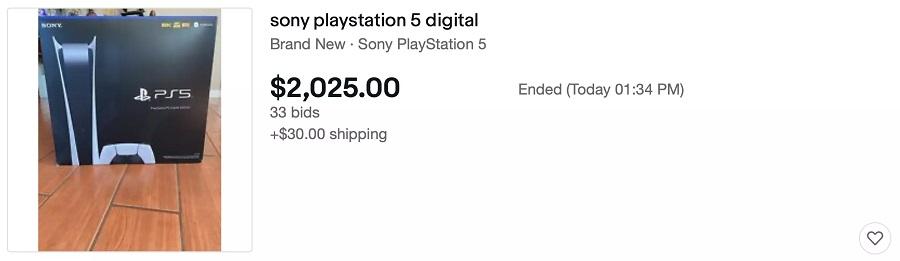 قیمت پلی استیشن 5 در eBay