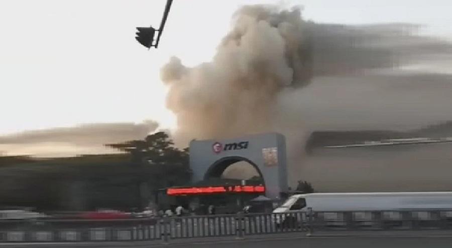 آتش سوزی در کارخانه MSI در شهر شنژن چین
