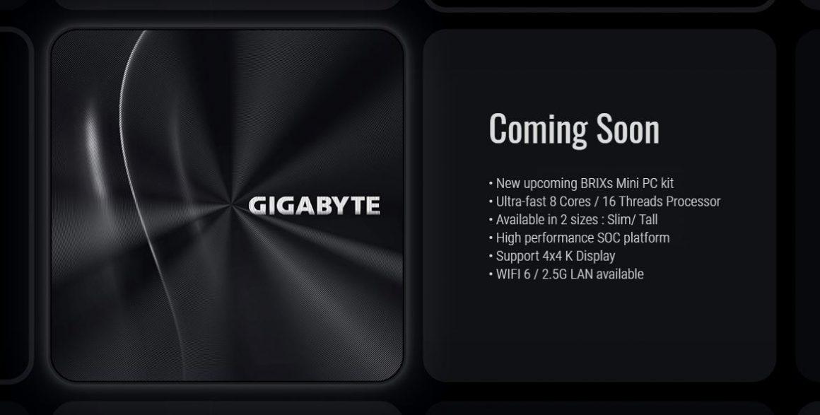 سری جدید BRIX Mini-PC گیگابایت با AMD Renoir