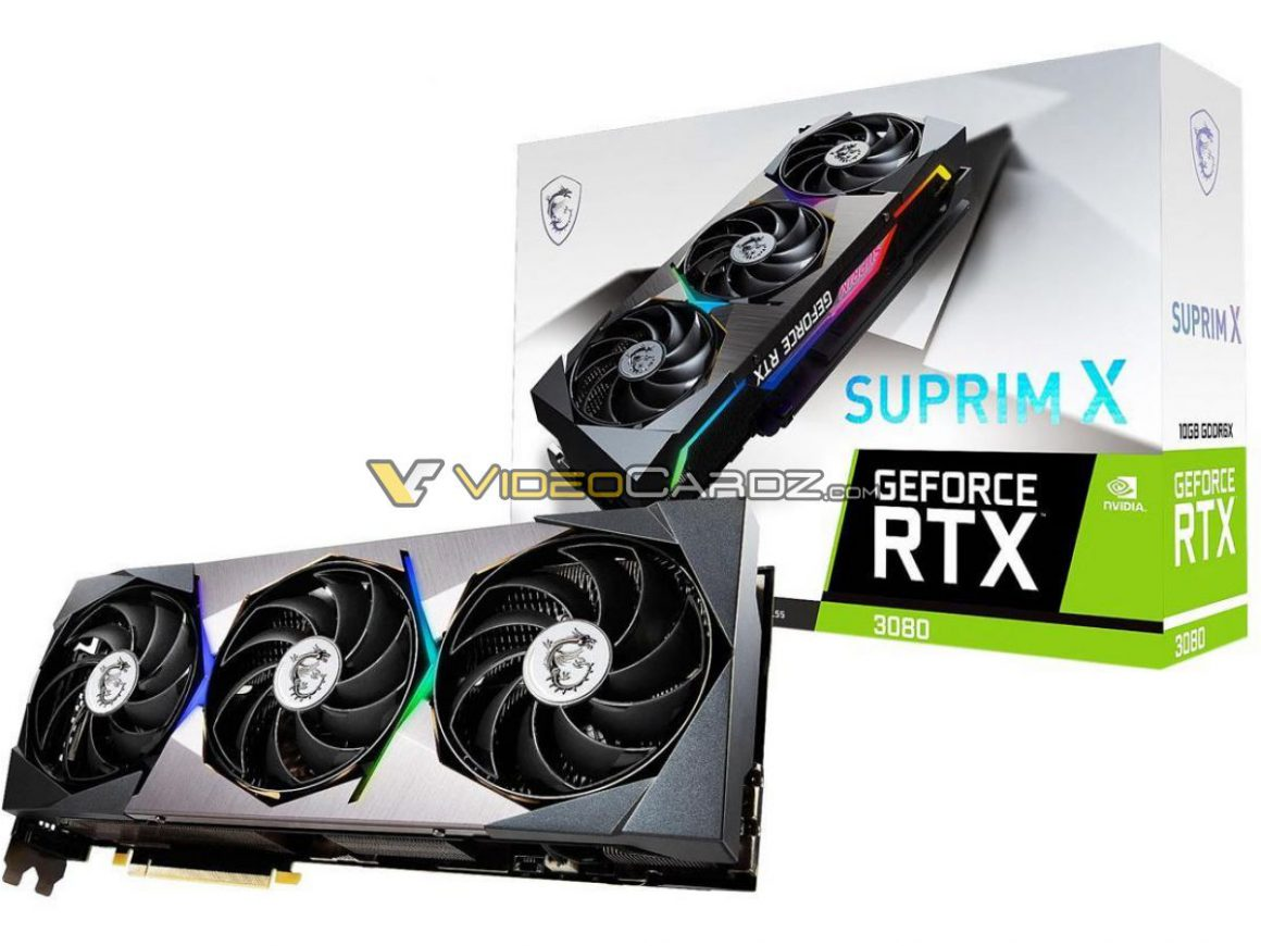 گرافیک MSI GeForce RTX 3080 SUPRIM X