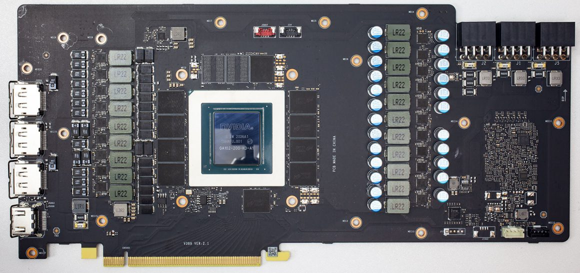 بُرد MSI RTX 3080 SUPRIM X