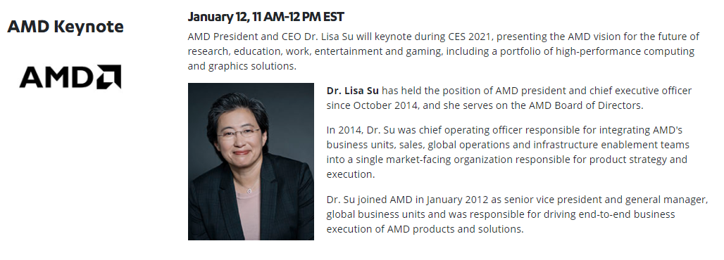 سخن رانی دکتر لیسا سو در CES 2021