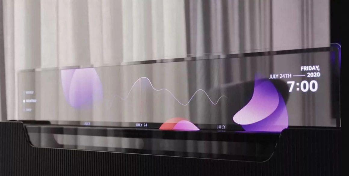 تلویزیون پا تختی LG – صفحه 55 اینچی OLED در تخت خواب 01