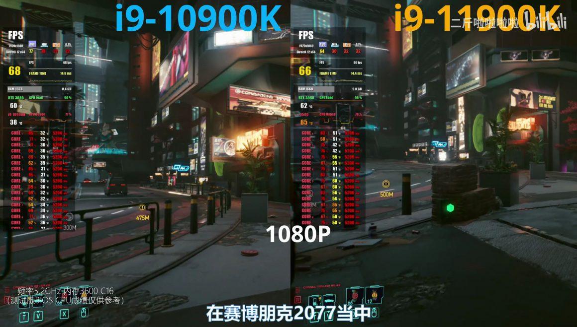 بنچمارک گیمینگ Core i9 11900K