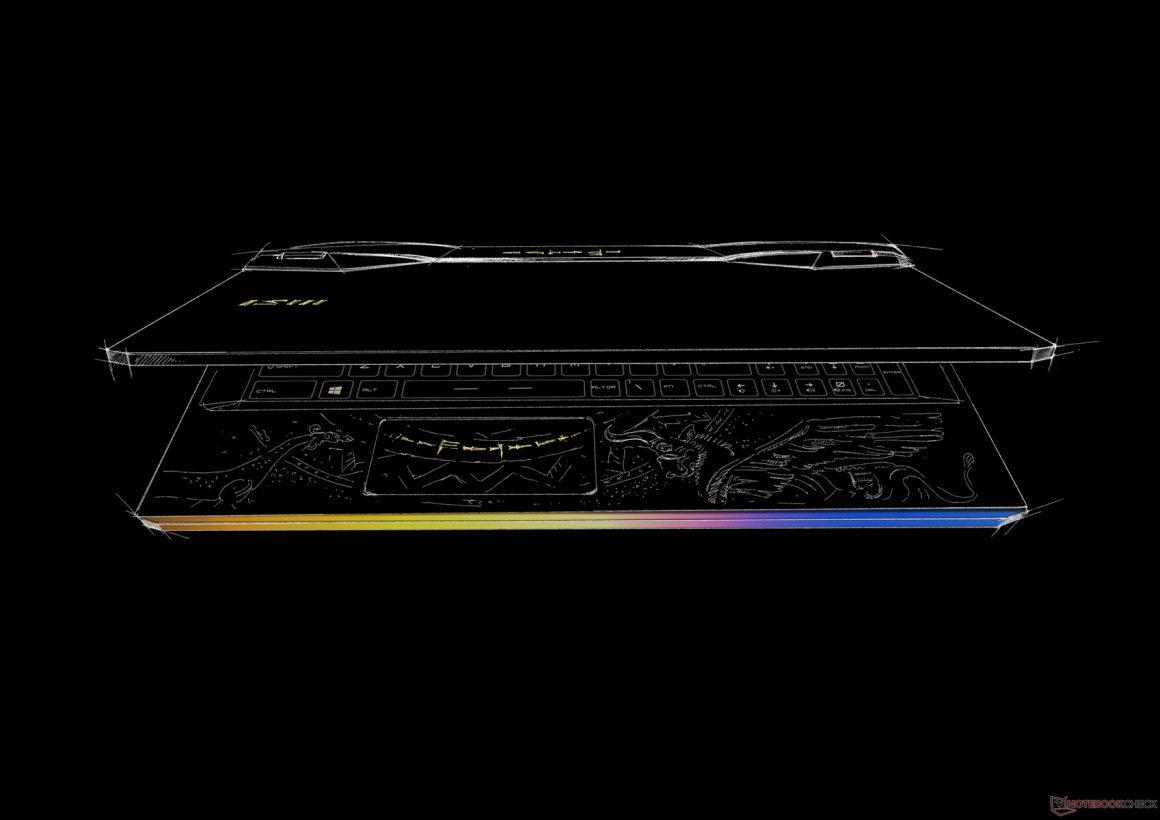 لپ تاپ MSI GE76 Raider با گرافیک RTX 3080 و طرح اژدها