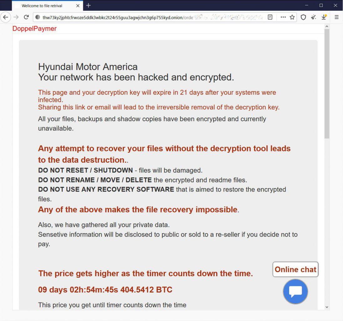 حمله باج افزاری به کیا موتورز امریکا