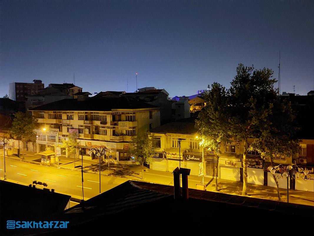 نمونه عکسهای ثبت شده در بررسی گلکسی A72 سامسونگ / حالت شب