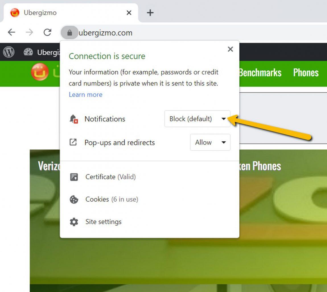 آموزش کار با اعلان ها در مرورگر Chrome  04