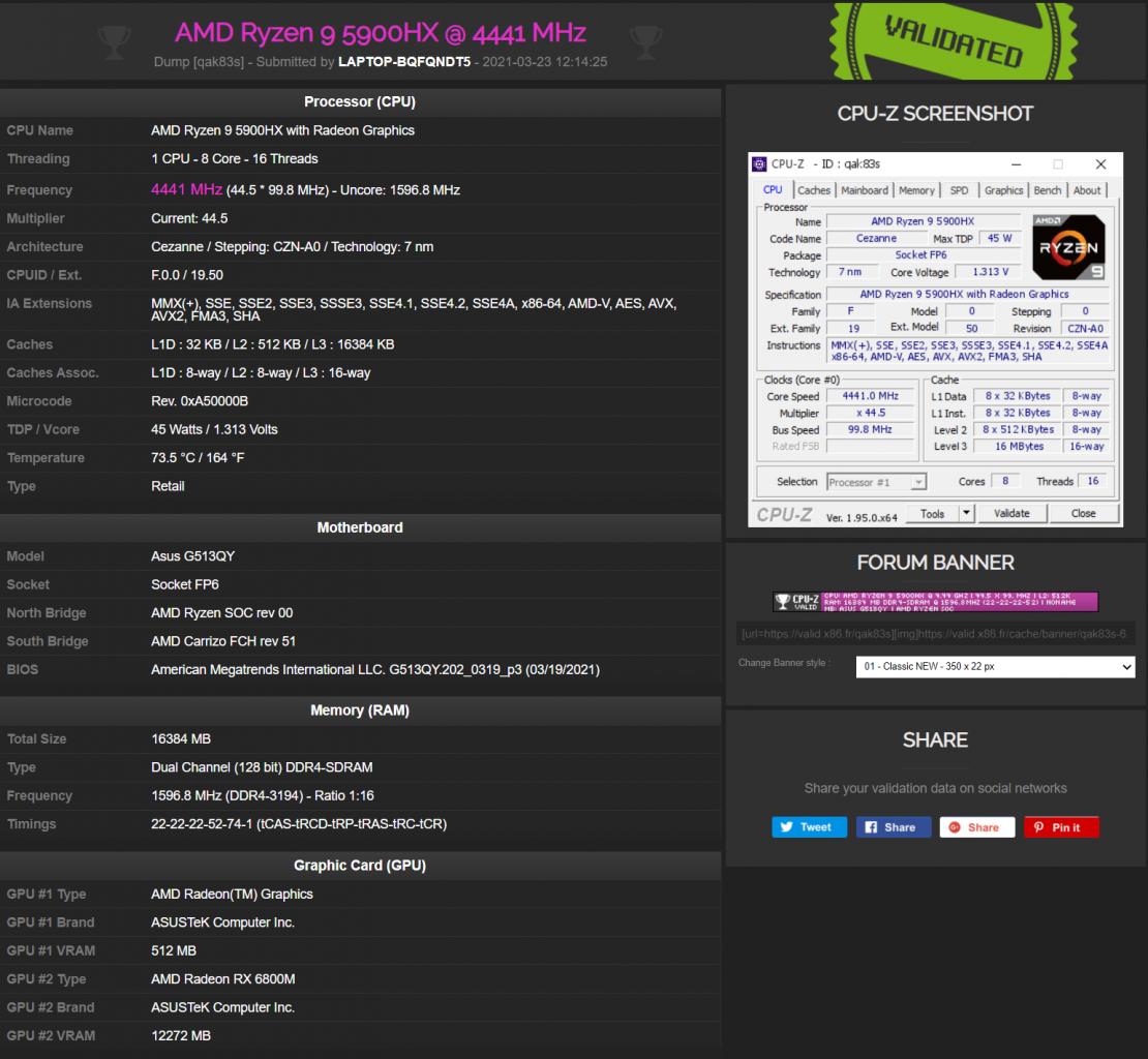 نوت بوک ROG G15 STRIX با گرافیک RX 6800M و پردازنده Ryzen 9 5900HX
